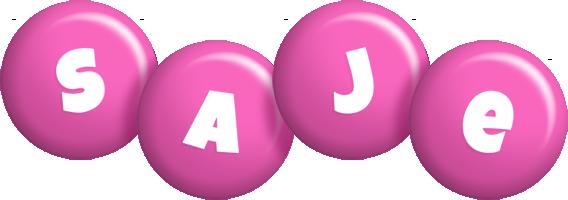 Saje candy-pink logo