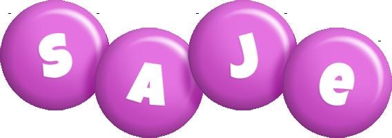 Saje candy-purple logo