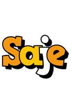 Saje cartoon logo