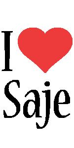 Saje i-love logo