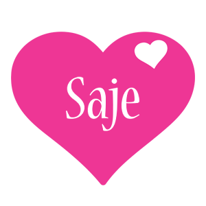 Saje love-heart logo