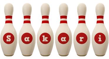 Sakari bowling-pin logo
