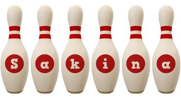 Sakina bowling-pin logo