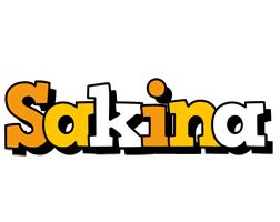 Sakina cartoon logo