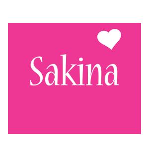 Sakina love-heart logo