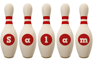Salam bowling-pin logo