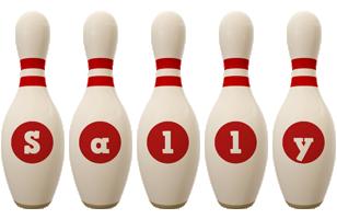 Sally bowling-pin logo