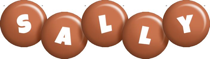 Sally candy-brown logo