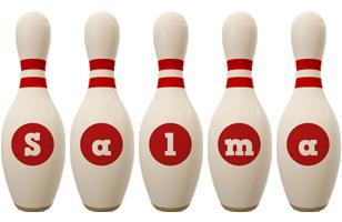 Salma bowling-pin logo