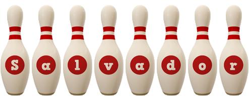 Salvador bowling-pin logo