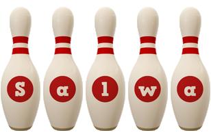 Salwa bowling-pin logo