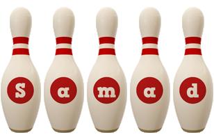 Samad bowling-pin logo