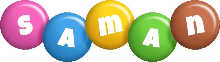 Saman candy logo