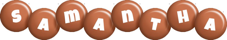 Samantha candy-brown logo