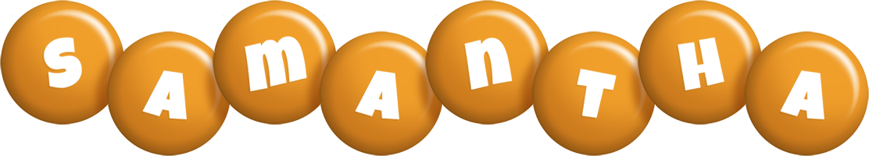 Samantha candy-orange logo