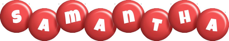 Samantha candy-red logo