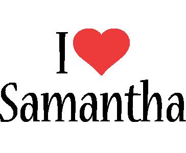 Samantha i-love logo