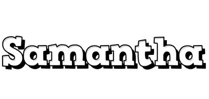 Samantha snowing logo