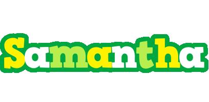 Samantha soccer logo
