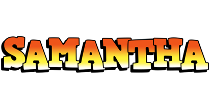 Samantha sunset logo