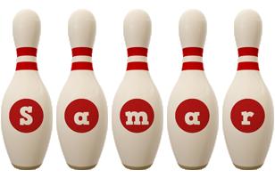 Samar bowling-pin logo