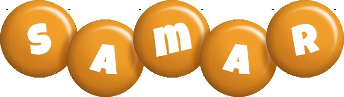 Samar candy-orange logo
