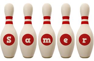 Samer bowling-pin logo