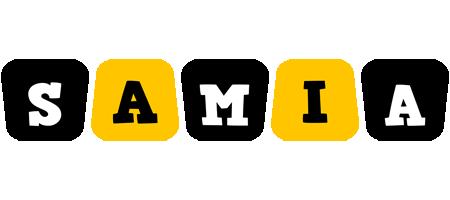 Samia boots logo