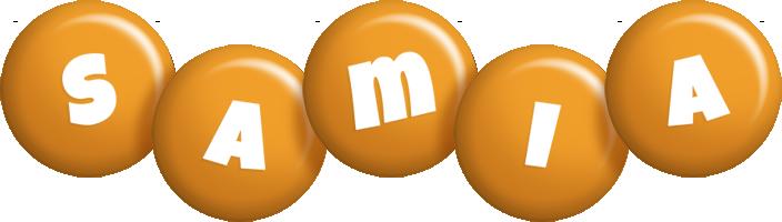 Samia candy-orange logo