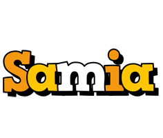 Samia cartoon logo