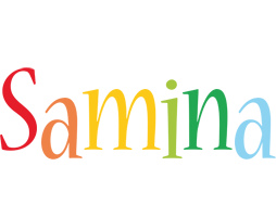 Samina birthday logo