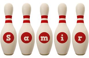 Samir bowling-pin logo