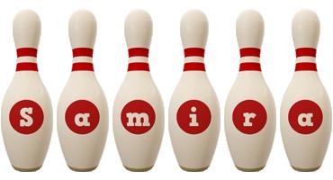 Samira bowling-pin logo