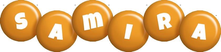 Samira candy-orange logo