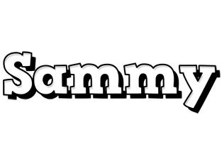 Sammy snowing logo