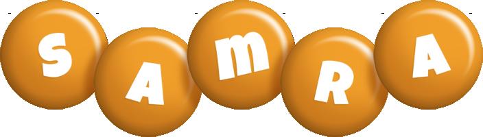 Samra candy-orange logo