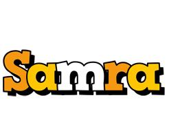 Samra cartoon logo