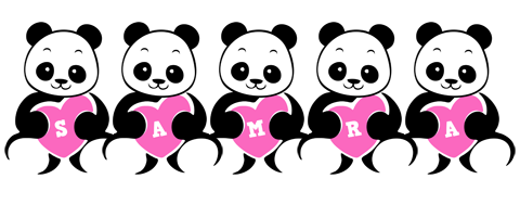 Samra love-panda logo