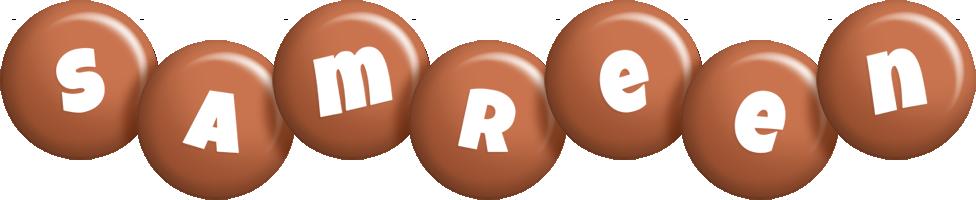 Samreen candy-brown logo