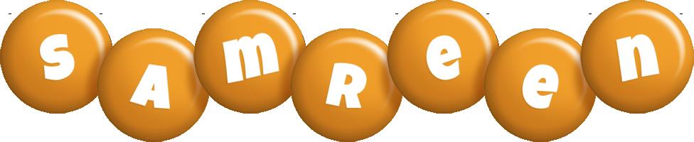 Samreen candy-orange logo