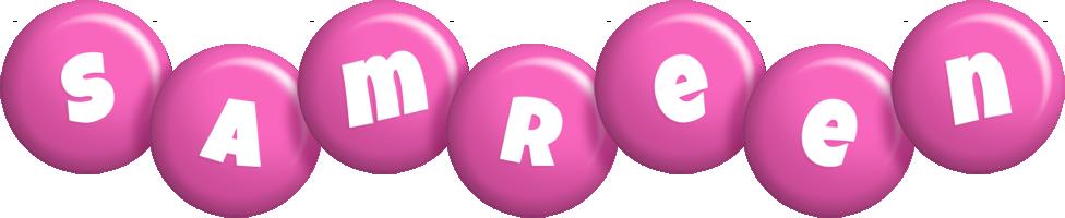 Samreen candy-pink logo