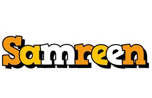 Samreen cartoon logo