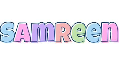 Samreen pastel logo