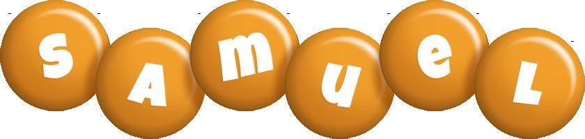 Samuel candy-orange logo