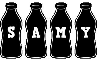 Samy bottle logo