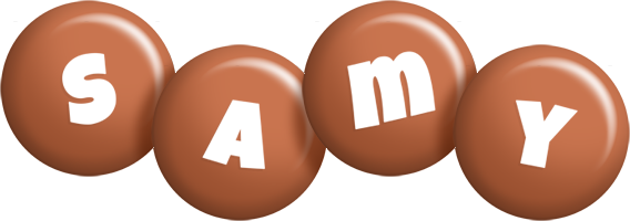 Samy candy-brown logo