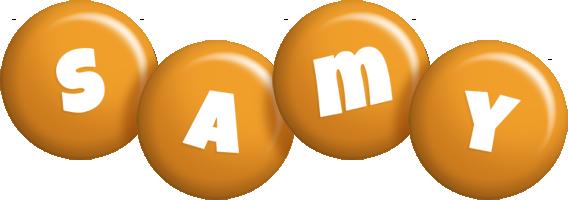 Samy candy-orange logo