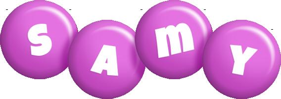 Samy candy-purple logo