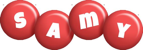 Samy candy-red logo