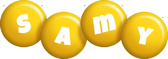 Samy candy-yellow logo